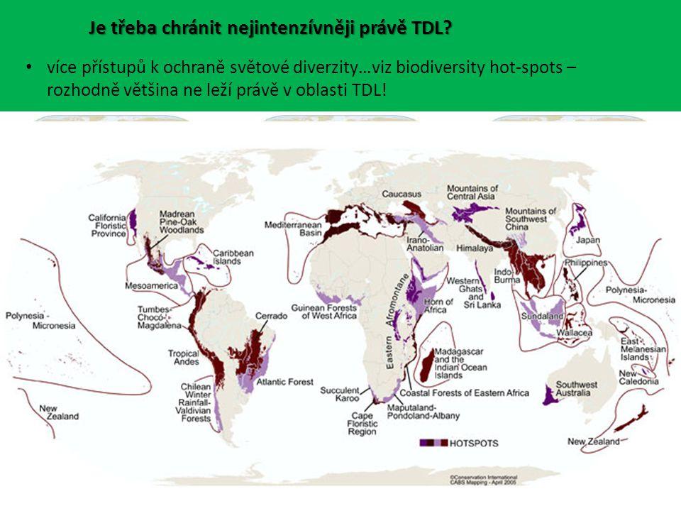 Je třeba chránit nejintenzívněji právě TDL