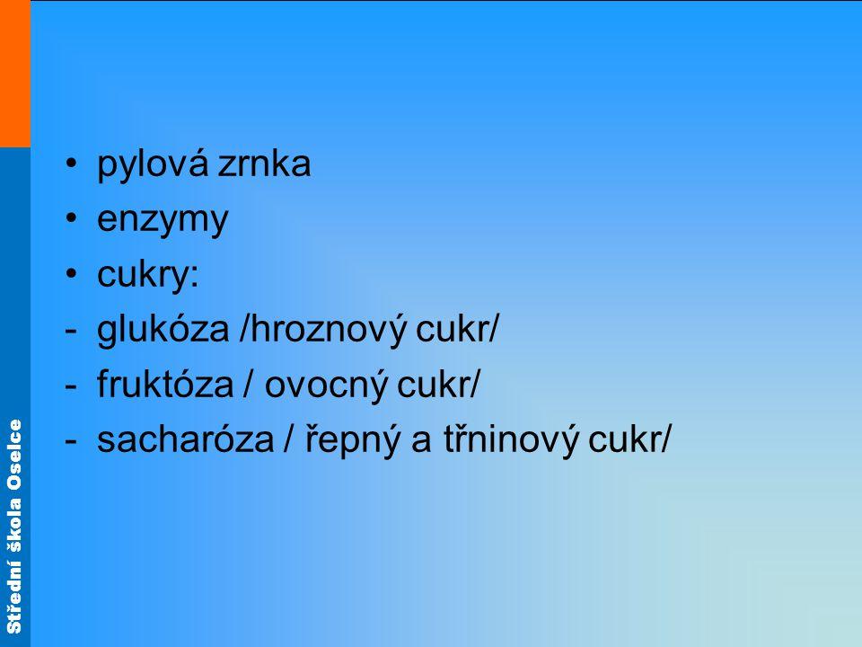 pylová zrnka enzymy.