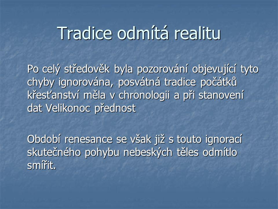 Tradice odmítá realitu