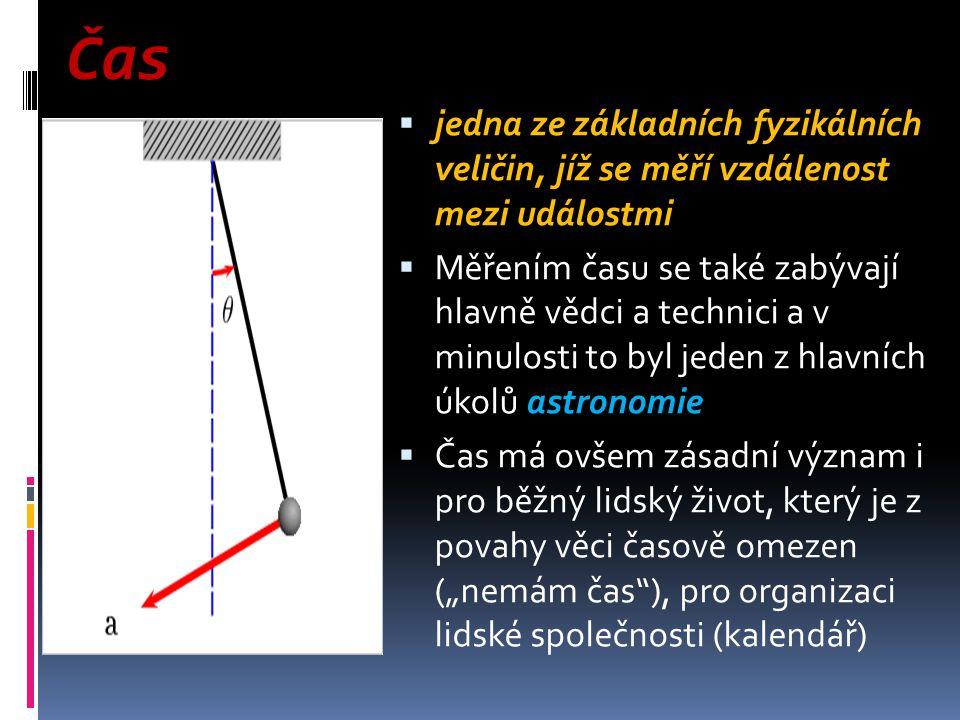 Čas jedna ze základních fyzikálních veličin, jíž se měří vzdálenost mezi událostmi.