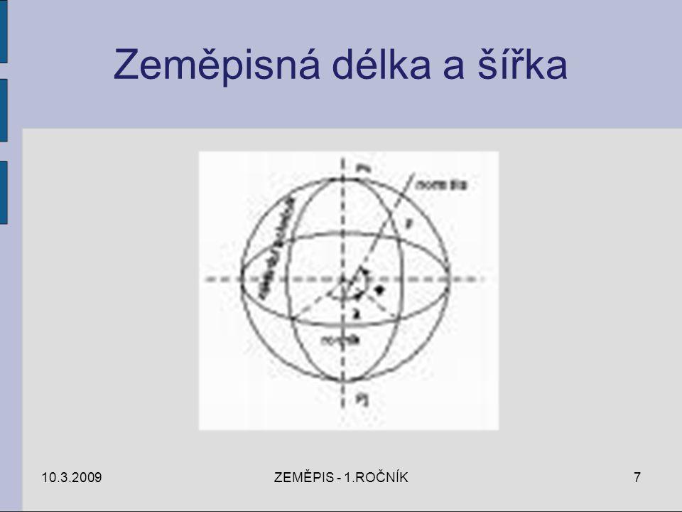 Zeměpisná délka a šířka