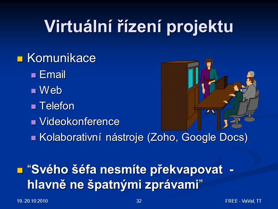 Virtuální řízení projektu
