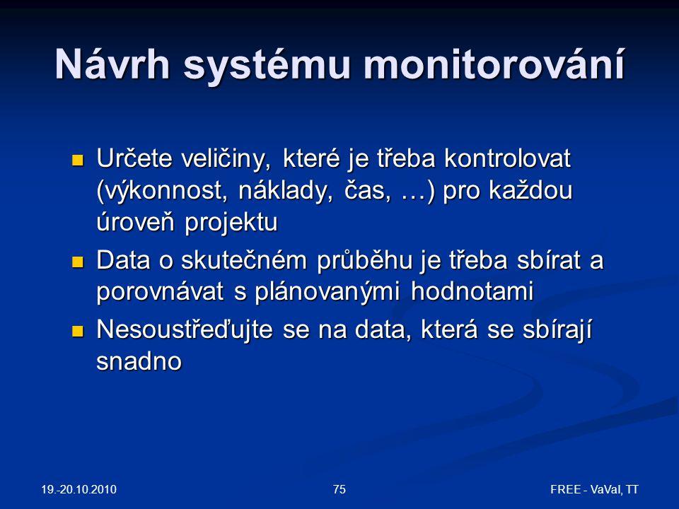 Návrh systému monitorování