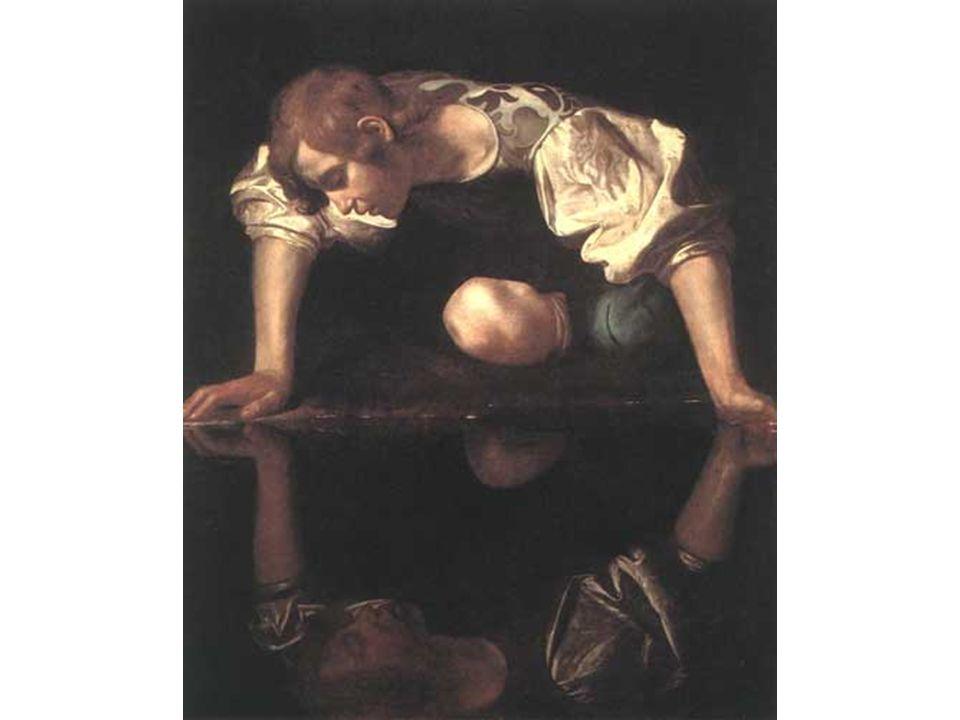 Narcis, Caravaggio, 1598-99, 110 x 92 cm, Galleria Nazionale d Arte Antica, Řím.