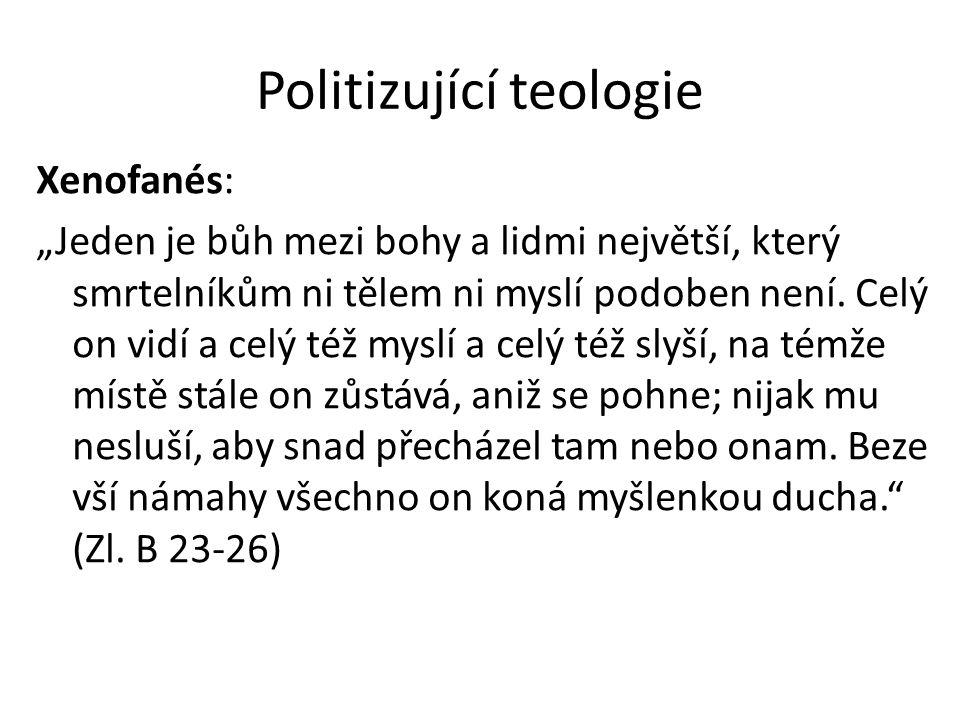 Politizující teologie