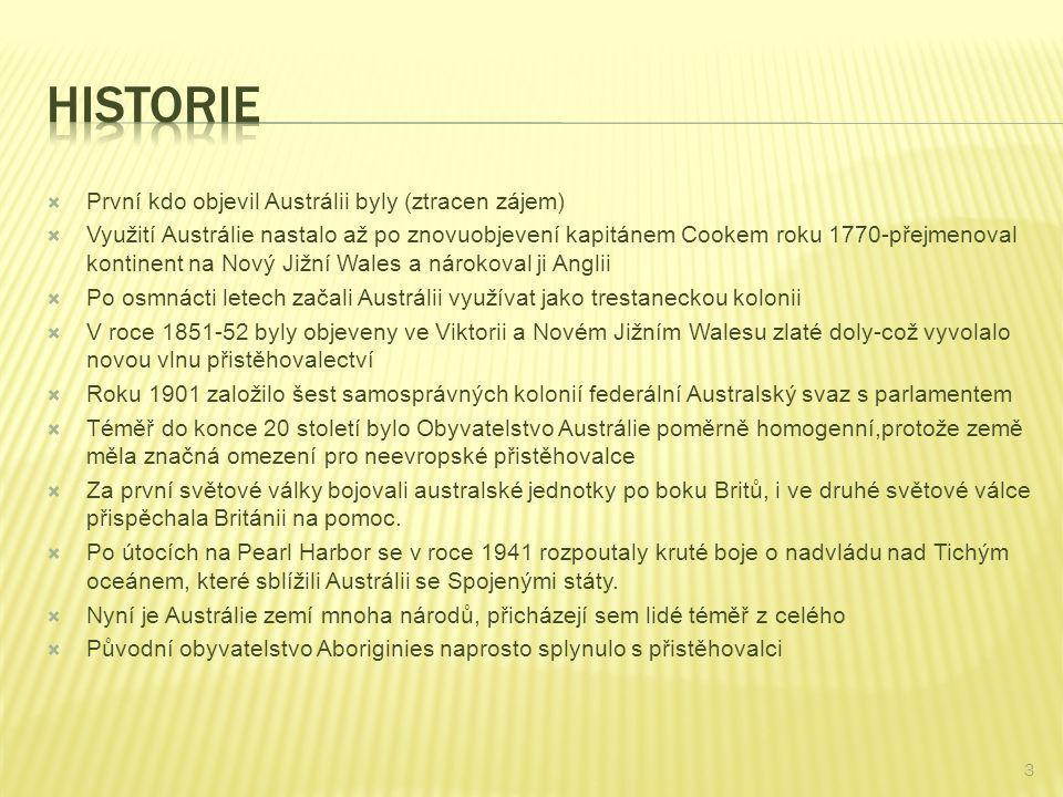Historie První kdo objevil Austrálii byly (ztracen zájem)