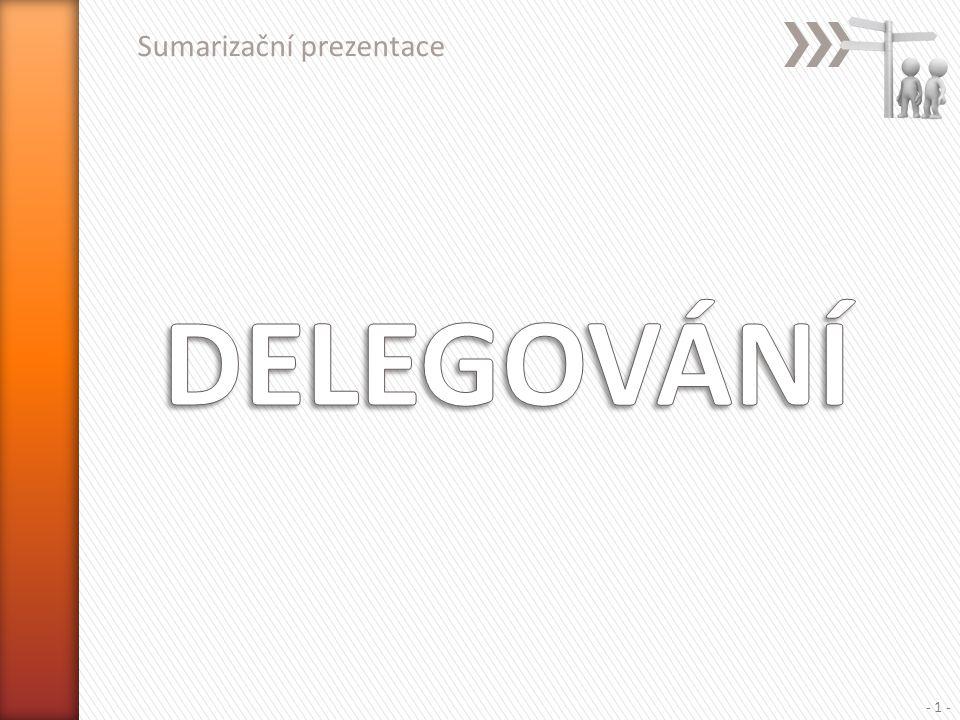 Sumarizační prezentace