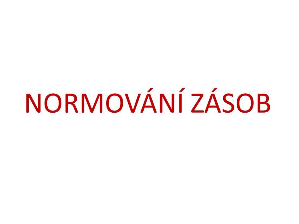 NORMOVÁNÍ ZÁSOB