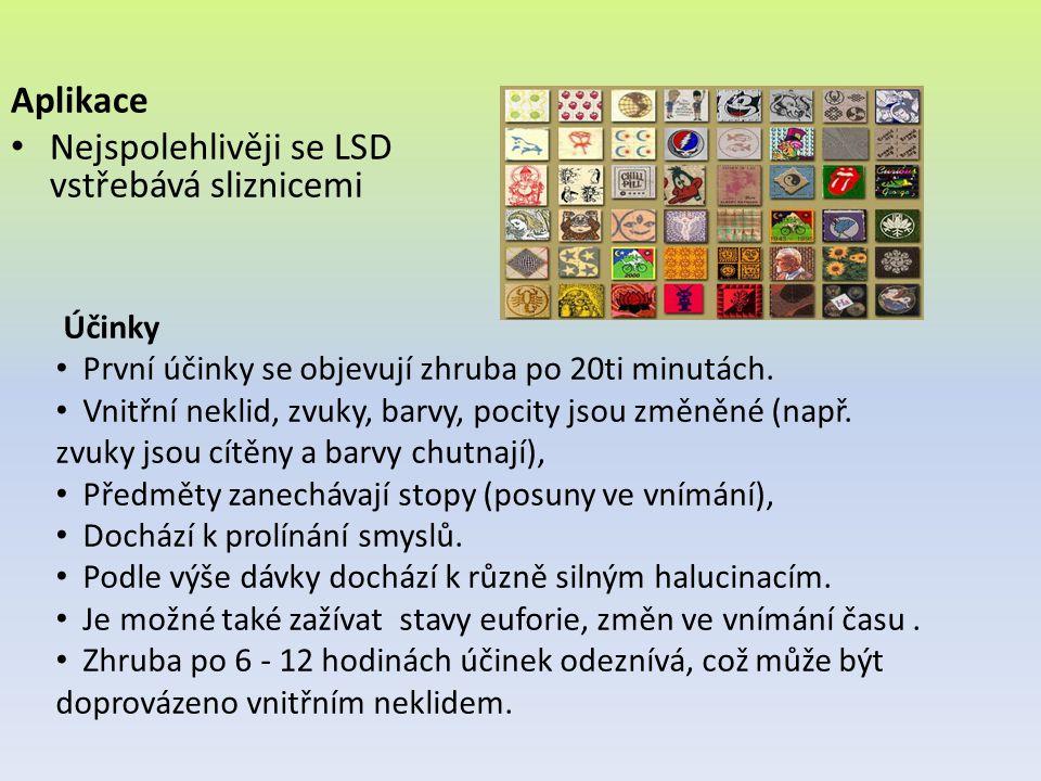 Nejspolehlivěji se LSD vstřebává sliznicemi