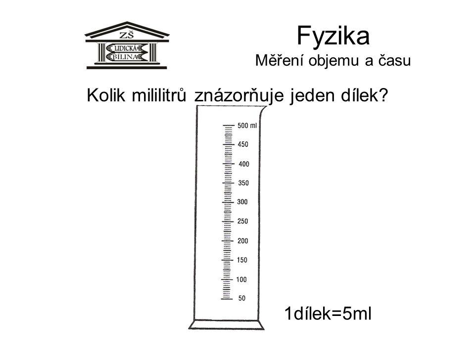 Fyzika Měření objemu a času