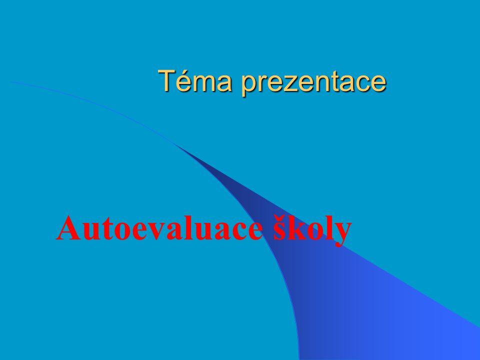 Téma prezentace Autoevaluace školy