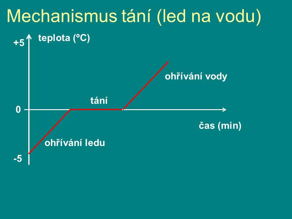 Mechanismus tání (led na vodu)