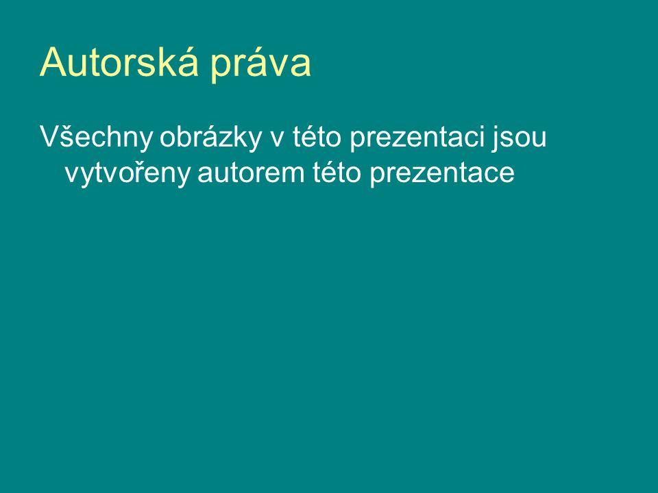 Autorská práva Všechny obrázky v této prezentaci jsou vytvořeny autorem této prezentace