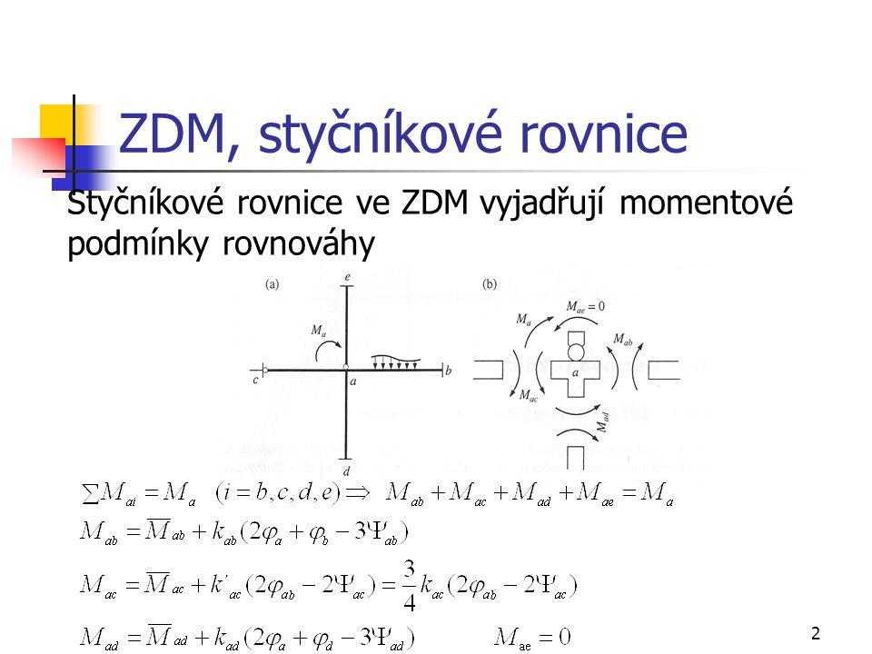 ZDM, styčníkové rovnice