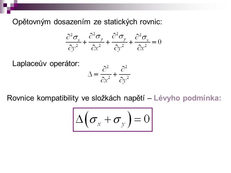 Opětovným dosazením ze statických rovnic: