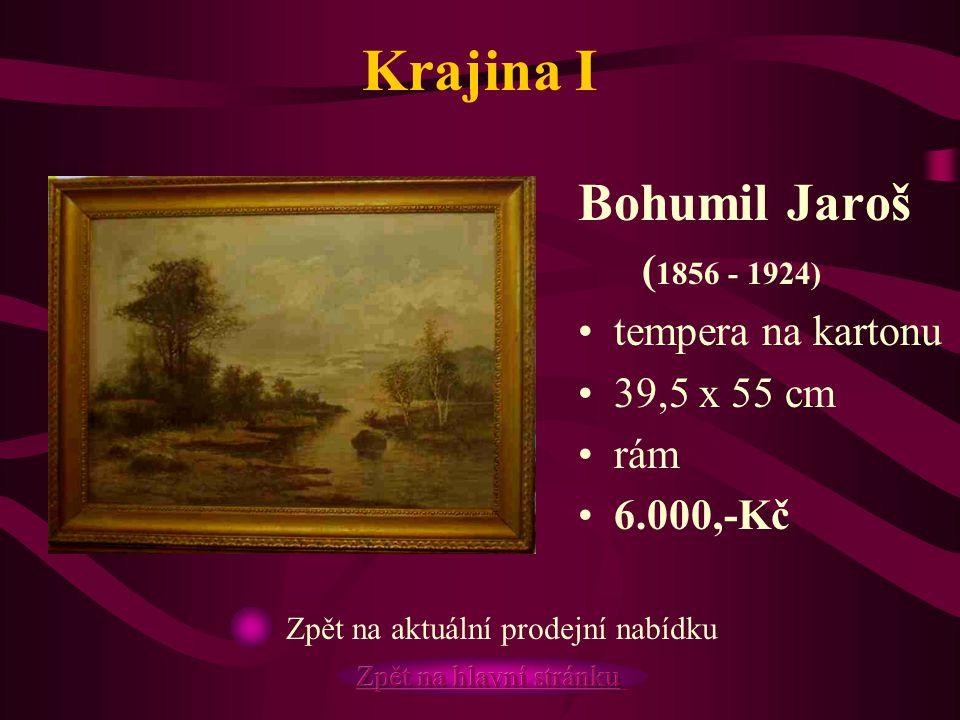 Krajina I Bohumil Jaroš (1856 - 1924) tempera na kartonu 39,5 x 55 cm