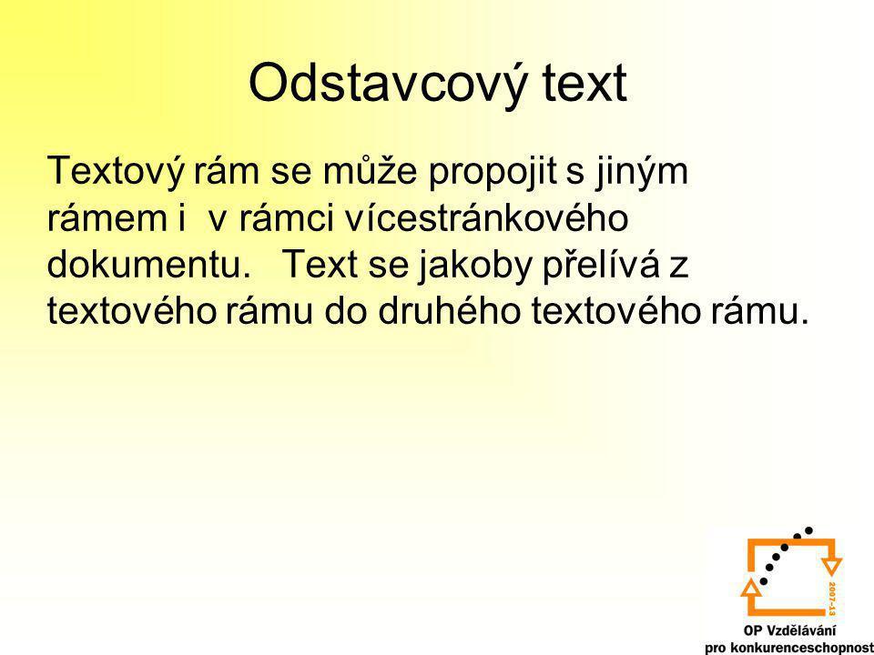Odstavcový text