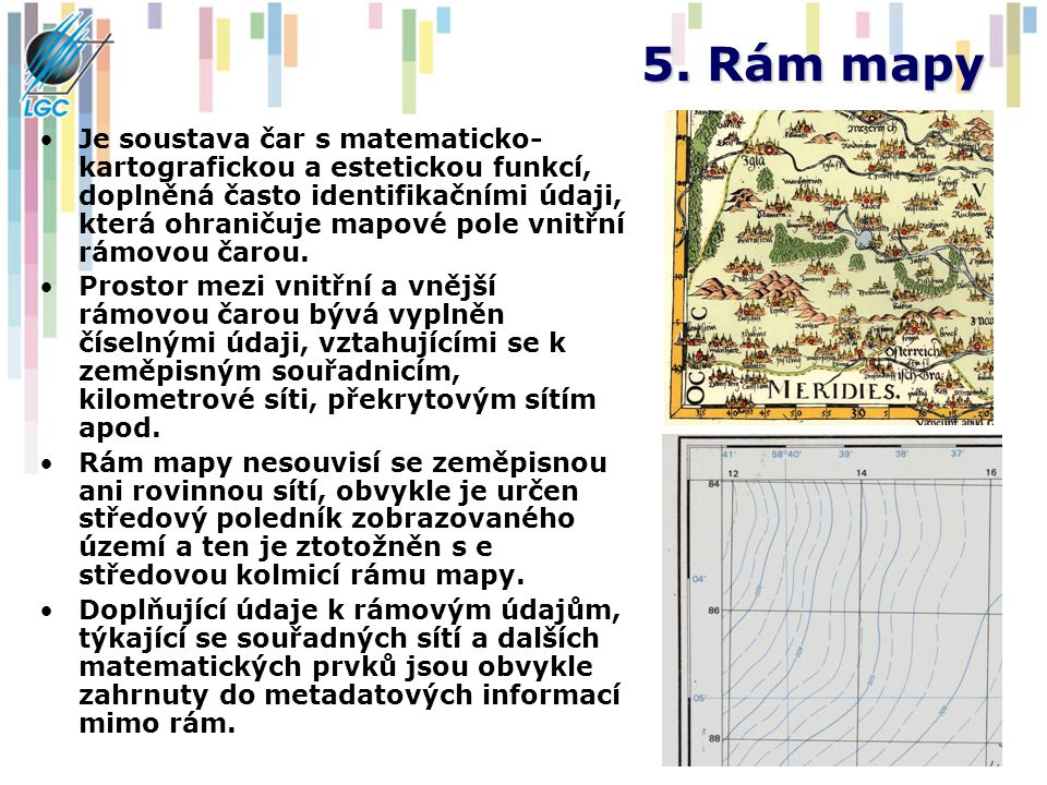 5. Rám mapy