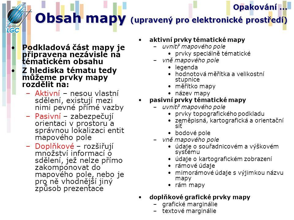 Opakování ... Obsah mapy (upravený pro elektronické prostředí)
