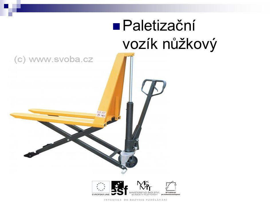 Paletizační vozík nůžkový