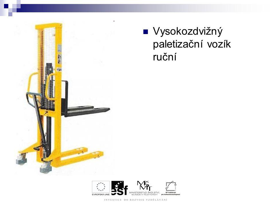 Vysokozdvižný paletizační vozík ruční