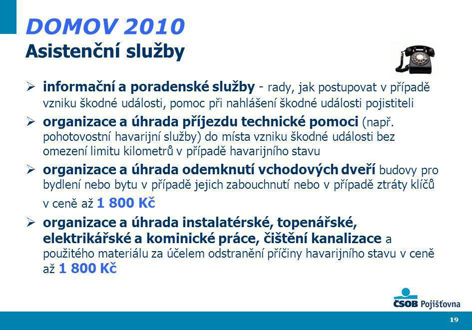 DOMOV 2010 Asistenční služby