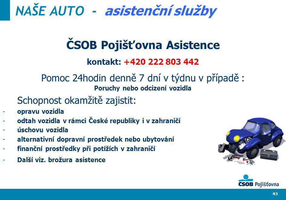 NAŠE AUTO - asistenční služby