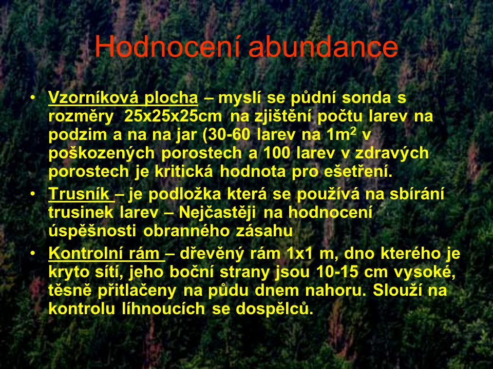 Hodnocení abundance