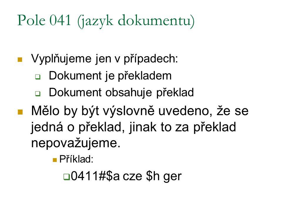 Pole 041 (jazyk dokumentu)