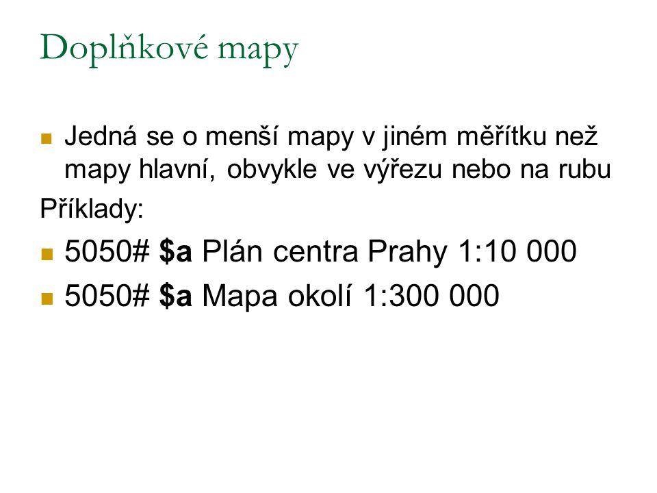 Doplňkové mapy 5050# $a Plán centra Prahy 1:10 000