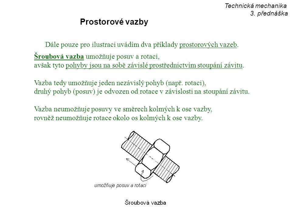 Technická mechanika 3. přednáška