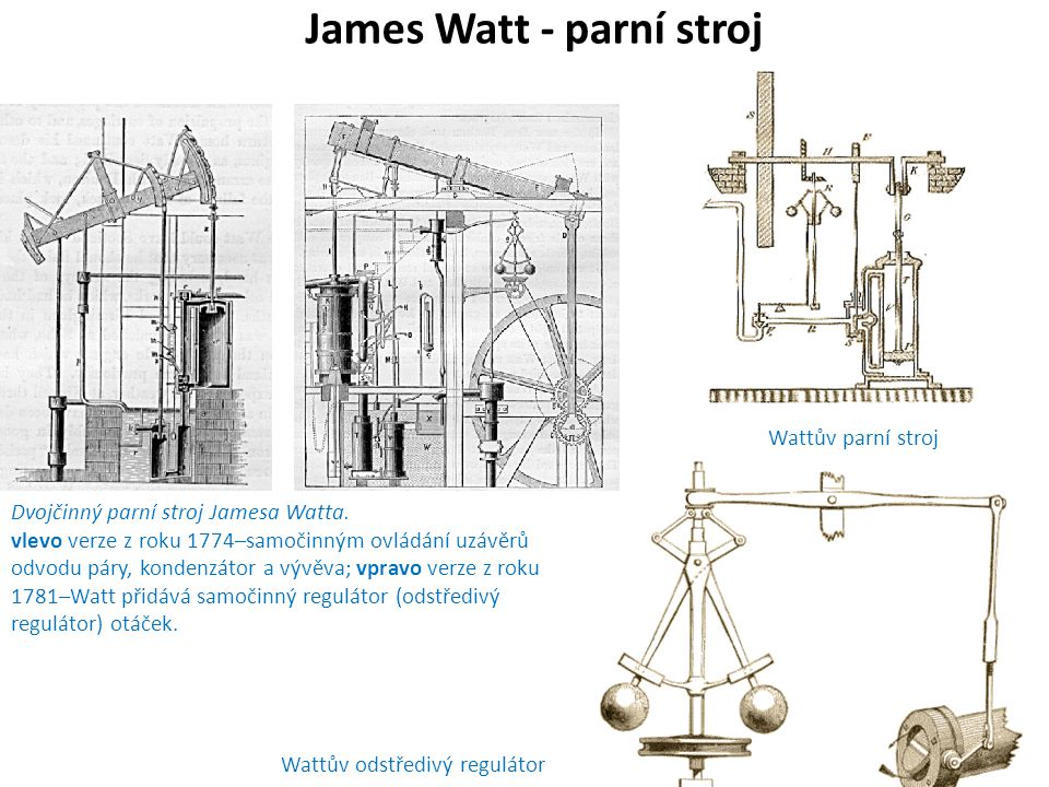 James Watt - parní stroj