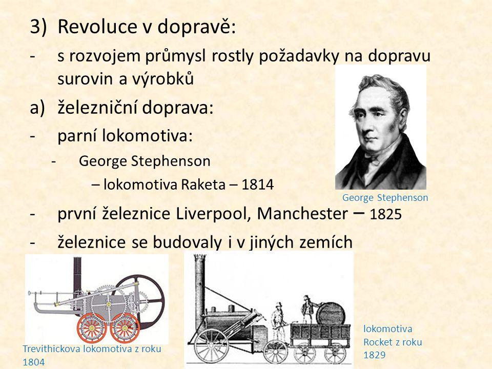 Revoluce v dopravě: železniční doprava: