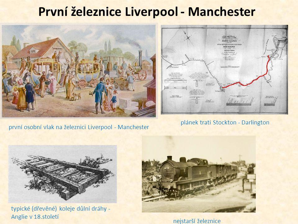 První železnice Liverpool - Manchester