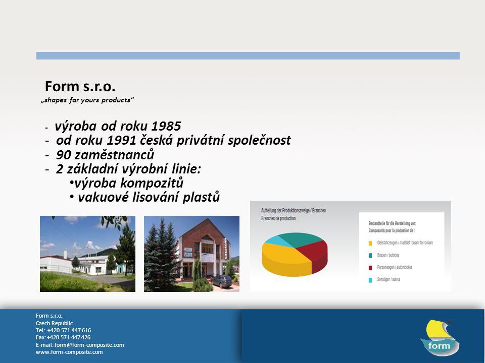 Form s.r.o. od roku 1991 česká privátní společnost 90 zaměstnanců