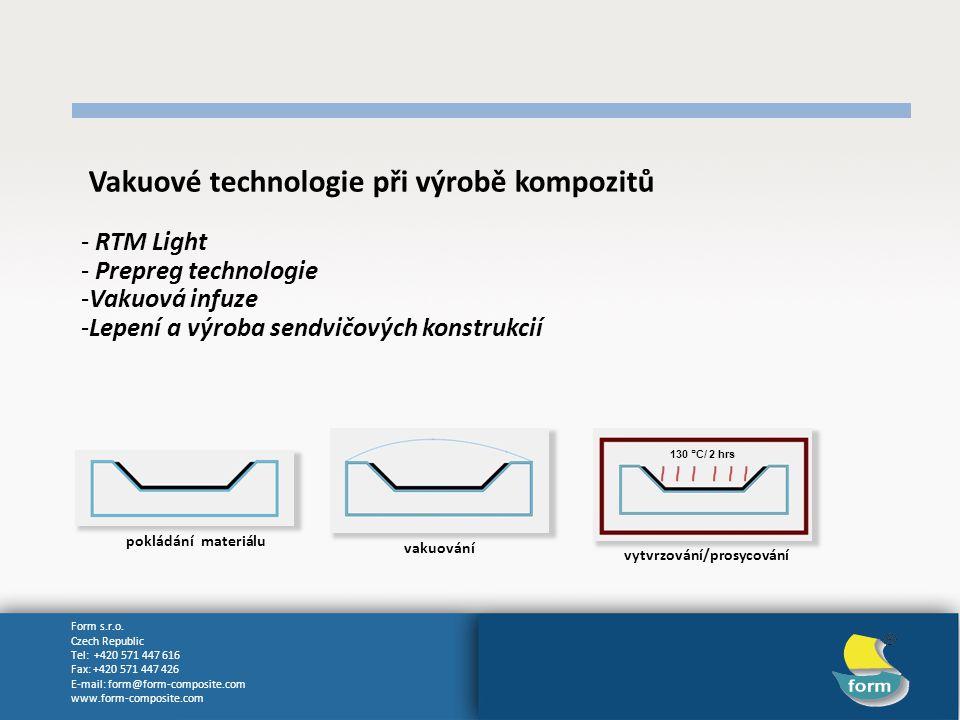 Vakuové technologie při výrobě kompozitů