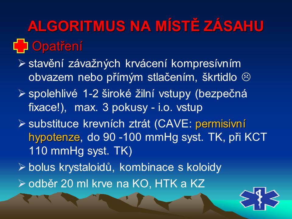 ALGORITMUS NA MÍSTĚ ZÁSAHU