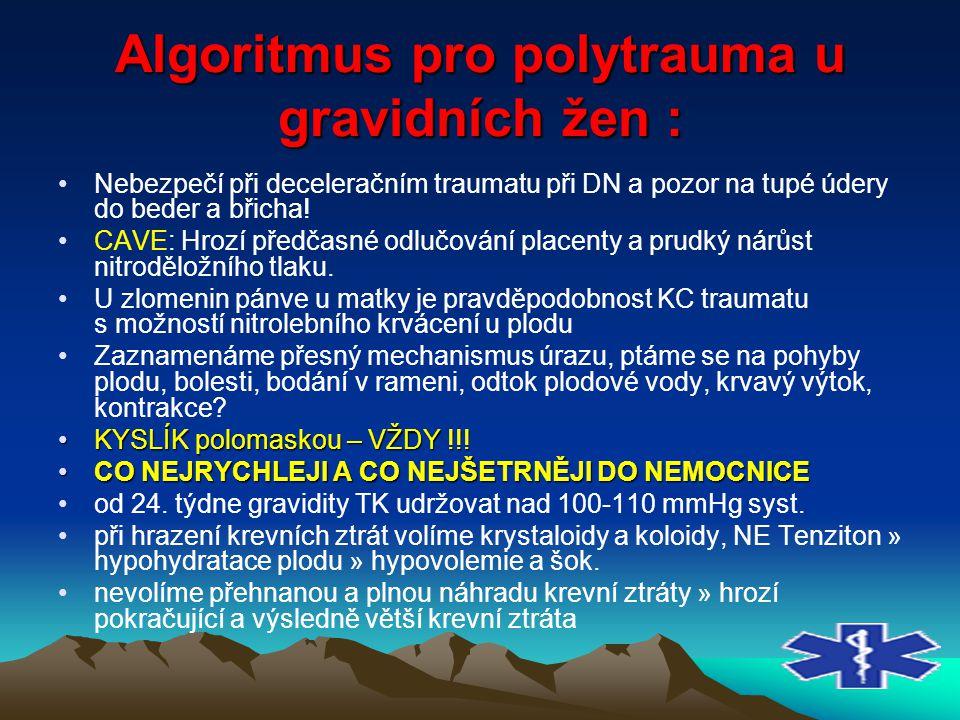 Algoritmus pro polytrauma u gravidních žen :