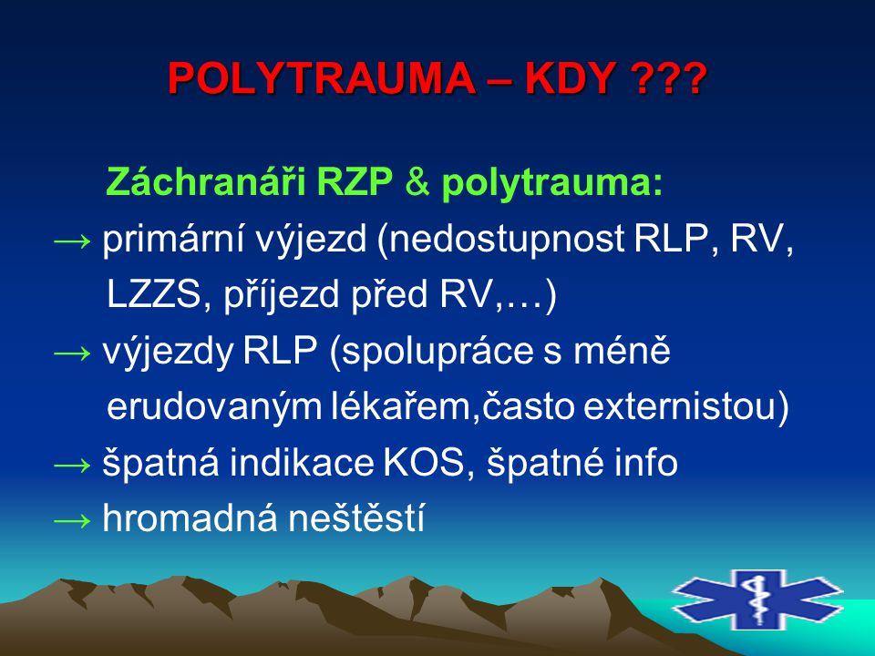 POLYTRAUMA – KDY Záchranáři RZP & polytrauma: