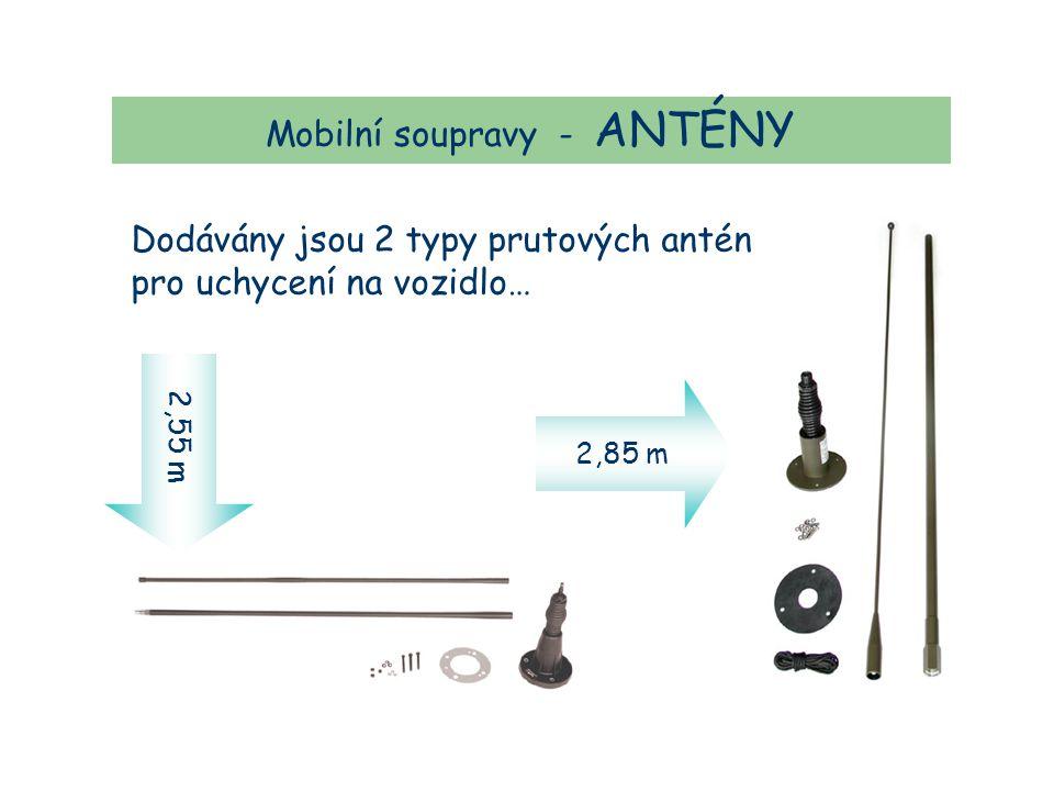Mobilní soupravy - ANTÉNY