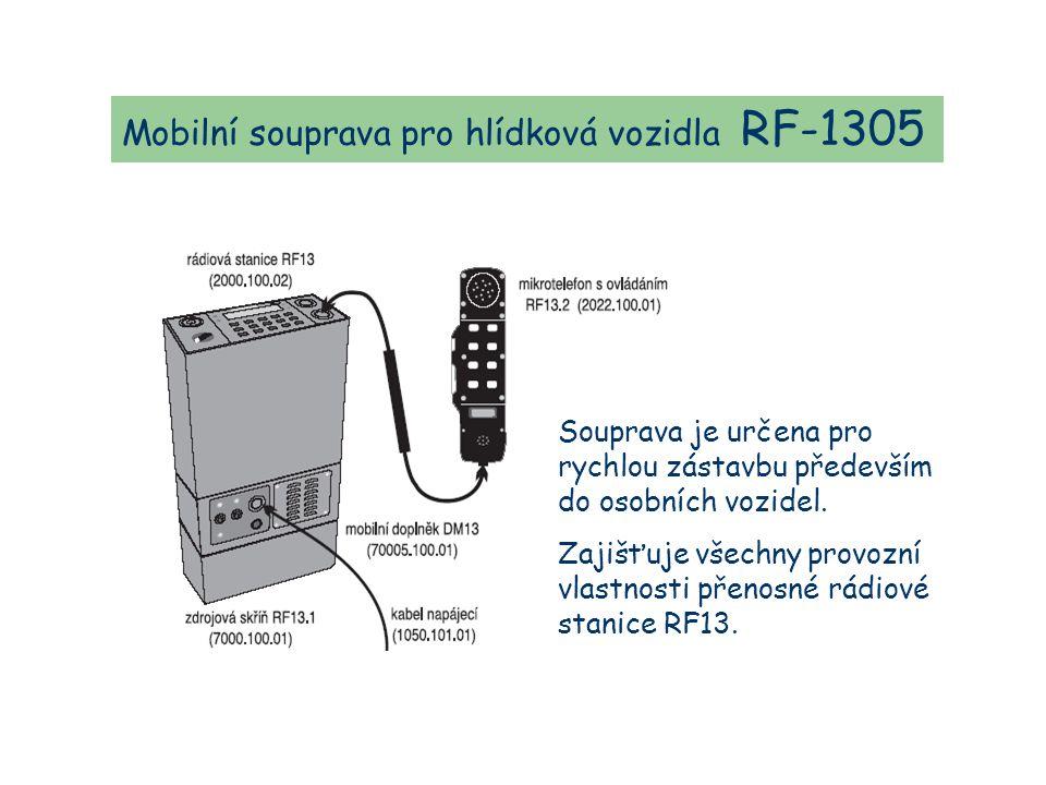 Mobilní souprava pro hlídková vozidla RF-1305