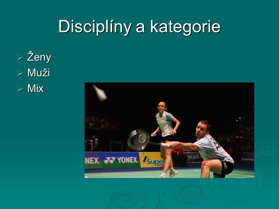 Disciplíny a kategorie