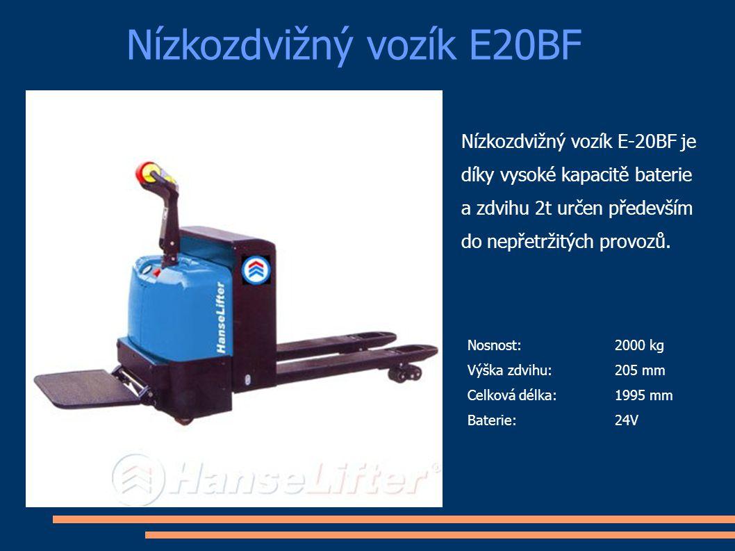 Nízkozdvižný vozík E20BF