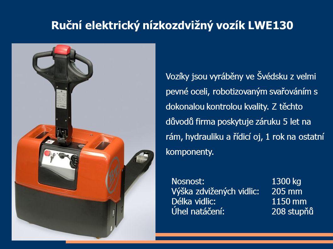 Ruční elektrický nízkozdvižný vozík LWE130