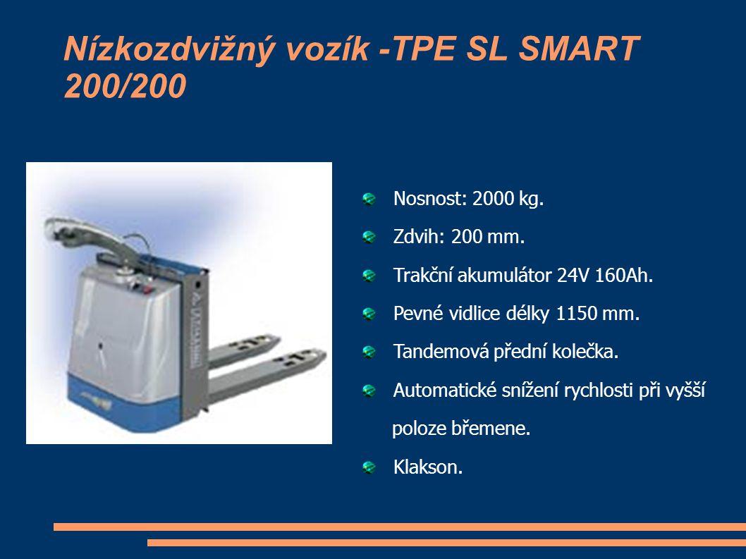 Nízkozdvižný vozík -TPE SL SMART 200/200