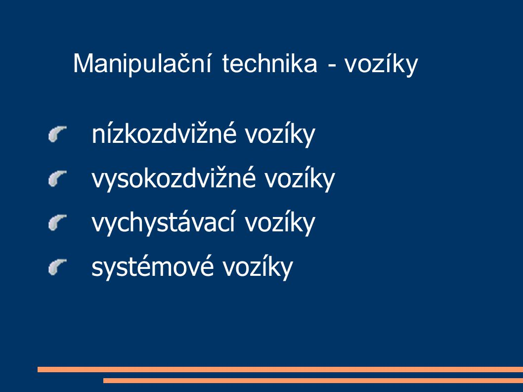 Manipulační technika - vozíky