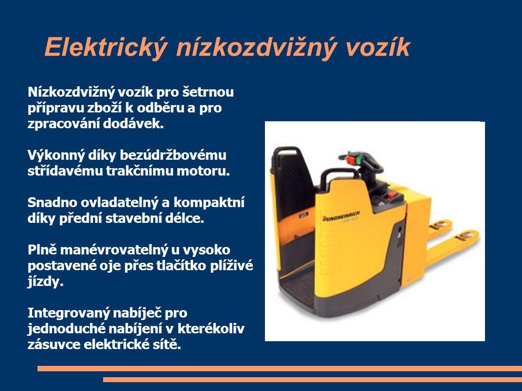 Elektrický nízkozdvižný vozík