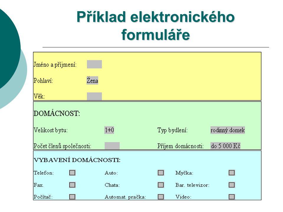 Příklad elektronického formuláře