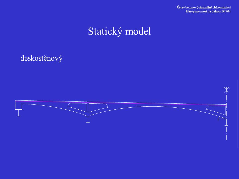 Statický model deskostěnový Ústav betonových a zděných konstrukcí