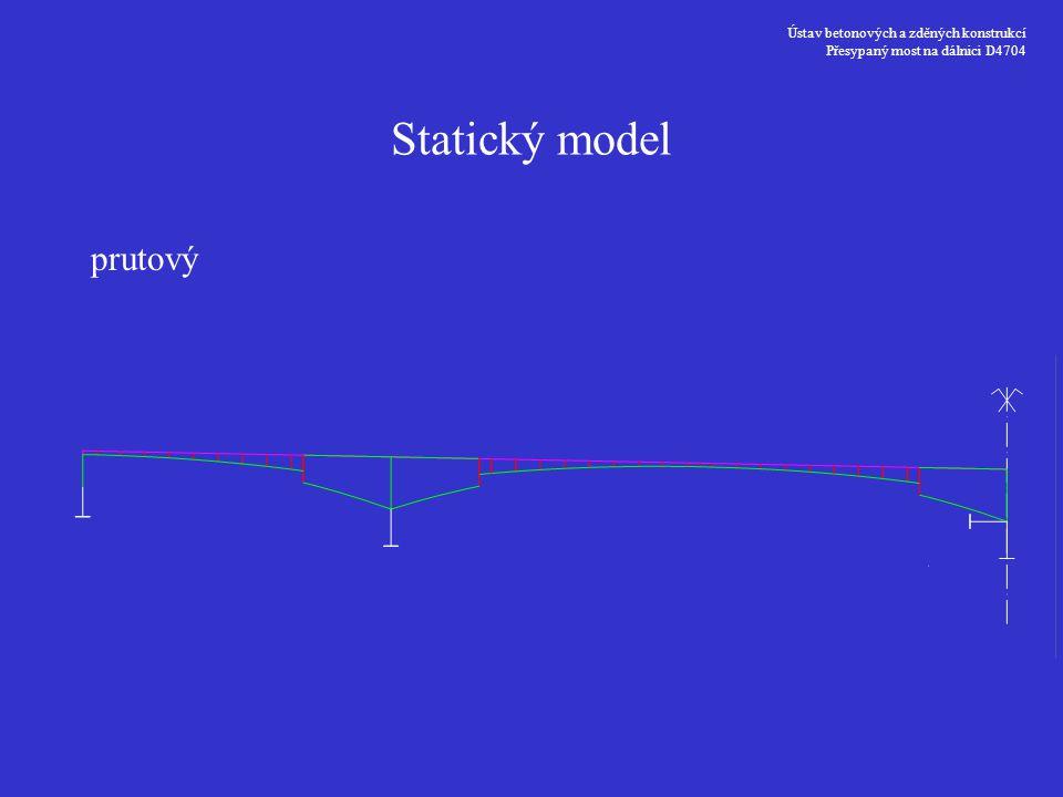 Statický model prutový Ústav betonových a zděných konstrukcí